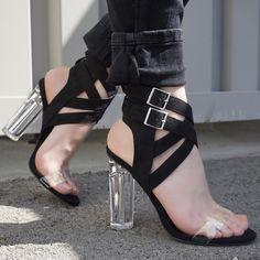 High Heel Pumps, Pumps Heels, Stiletto Heels, Spring Shoes, Summer Shoes, Transparent Heels, Chunky High Heels, Prom Shoes, Womens High Heels