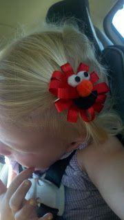 Crafty Momma: Elmo Hair Bow - DIY...cute!!