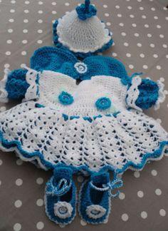 """Pretty Handmade Crochet Flower Fairy Set for 18 20"""" Baby Reborn Doll   eBay"""