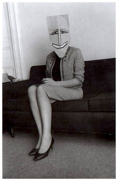A collaboration between the artist Saul Steinberg and the photographer Inge Morath, taken in the late 1950s and early 1960s