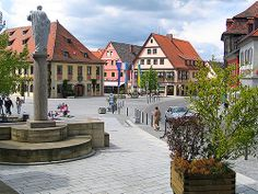 #Lichtenfels #Oberfranken Marktplatz #Bayern