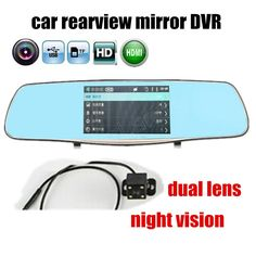 46.84$  Buy here - http://alimkf.shopchina.info/go.php?t=32687141269 - new arrival Car DVR Rearview Mirror Dual Cameras 5 Inch HD 1080P Car Camera with rear camera Night Vision  46.84$ #aliexpressideas
