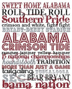 Ok, Alabama fans! You asked, and here it is! In honor of the National Champs, I have created University of Alabama Subway Art. Roll Tide Alabama, Alabama Baby, Sweet Home Alabama, Crimson Tide Football, Alabama Crimson Tide, Bama Fever, Alabama T Shirts, University Of Alabama, Down South