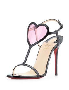 CHRISTIAN LOUBOUTIN Cora Heart High Heel Sandals
