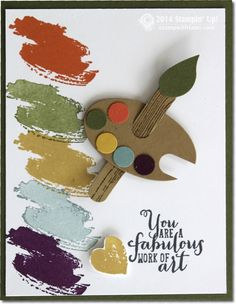 Stampin Work of Art – Artist Palette Card. #compartirvideos #happybirthday