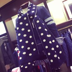 This polkadot scarf from Brooks Brothers is an ideal item for fall!