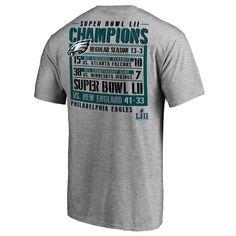 Philadelphia Eagles NFL Pro Line by Fanatics Branded Super Bowl LII  Champions Gridiron Schedule T-Shirt – Heather Gray 0e7d78756