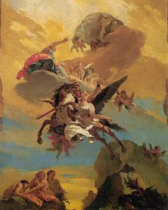 Perseus and Andromeda - Giovanni Battista Tiepolo, his skies were so magnificent that when I see a breath taking sky I immediately think of Tiepolo.  Discover the coolest shows in New York at www.artexperience...