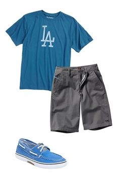 Wright & Ditson T-Shirt, Quiksilver Shorts & Sperry Top-Sider® Boat Shoe (Big Boys) | Nordstrom