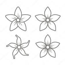 Resultado De Imagen Para Dibujos De Flores De Jazmin Con Imagenes