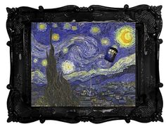 DOCTOR WHO VAN GOGH EPISODE TARDIS IN STARRY NIGHT PRINT COMES AS IS DECOR ART | eBay