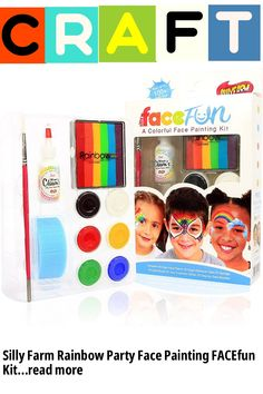 Silly Farm Rainbow Party Face Painting FACEfun Kit (This is an affiliate pin) Fancy Dress Hats, Ladies Fancy Dress, Silly Farm, Trump Mask, Morris Costumes, Viking Helmet, Novelty Hats, Halloween Hats, Silly Jokes