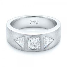 Custom Men's Trillion and Radiant Diamond Wedding Band    Joseph Jewelry   Bellevue   Seattle   Online   Design Your Own Ring