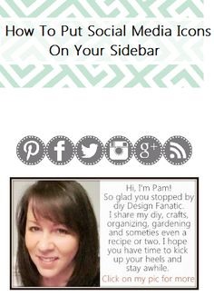 I used this tutorial to add social media icons to my blogger sidebar. In the video she says to buy your icons. I made my with Picmonkey and another tutorial. This video made it so much easier than using the image mapping tool.