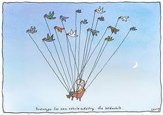 Birdmobile - Michael Leunig