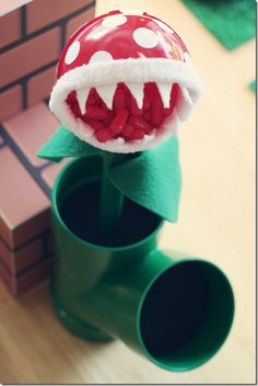 Super Mario Bros Party Decor...pipe trap flower