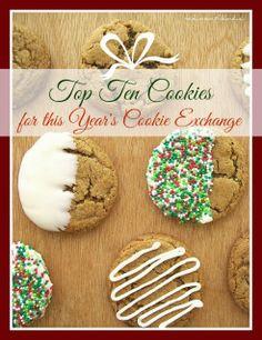 2013 Top Ten Cookies for this Year's Cookie Exchange Parties