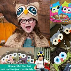 Owl crochet hat free patterns