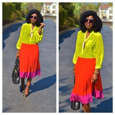 Today's outfit. Color fun! Now, thats color blocking!! LOVEE ITT!!  via @fashion-ideas