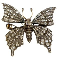 butterfly brooch, France, 19th century