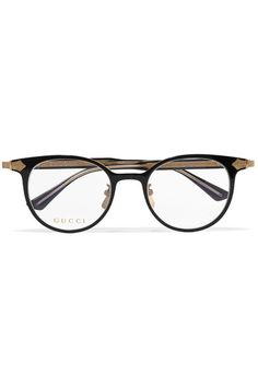7834a70b3b Gucci - Round-frame Acetate And Gold-tone Optical Glasses - Black Optical  Glasses
