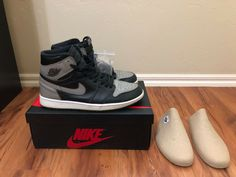 8d7b00943ba3f3 Nike Air Jordan Retro 1 Shadow Authentic High (2018) Size 8.5 (Rare) 👟  Complete