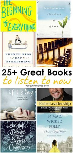 great list of audiobooks to listen too. perfect books to read for family road trips: