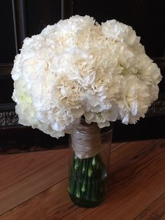 white carnations bouquet - Google Search