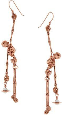 Vivienne Westwood Skeleton Earrings