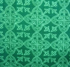Lucky Irish Print Fabric Celtic Medallions