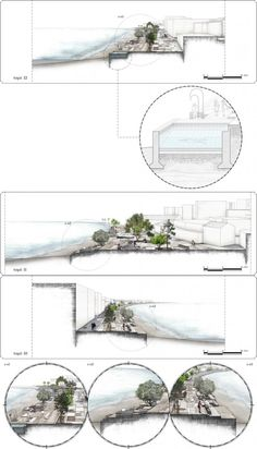Koum Kapi Competition Aim of the proposed intervention is the design of a public space that will be able to address both the local (at the scale of the neighborhood) and the city level. Landscape And Urbanism, Landscape Plans, Landscape Drawings, Urban Landscape, Landscape Designs, Architecture Graphics, Architecture Drawings, Architecture Design, Architecture Diagrams