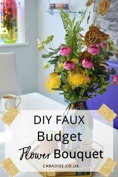 DIY Faux Flower Bouq