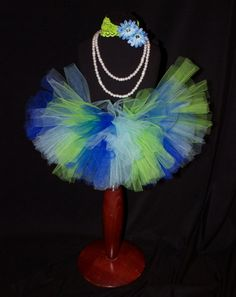 Lime Green and Blue tutu by HarperRaeDesigns on Etsy, $18.00