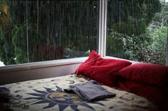 I'd love to sit there and just drink my tea, listening to the rain.