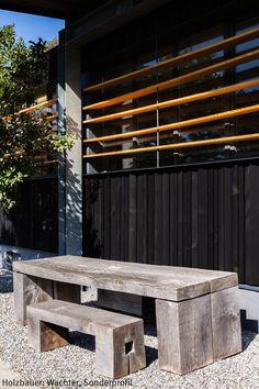 dura natur fassade aus holz • turnhalle in weissenau • architektur, Innenarchitektur ideen