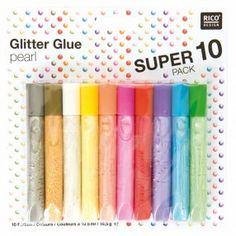 Glitter Glue Pearl 10x10,5ml