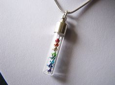 I would like this as a key chain!    Miniature Origami Cranes Necklace  Rainbow  by PaperPeaches, $30.00