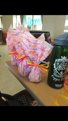 The gifts for the Kappa Delta Seniors during Senior Week :)