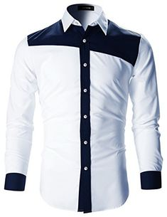 YUNY Mens Casual Slim Fit Buttoned Solid Casual Long-Sleeve Shirt White XXS