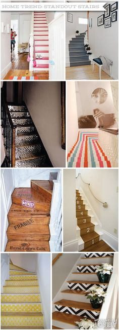 Colorful stairs, painted stairs, stair risers, Wouldn't it be Lovely