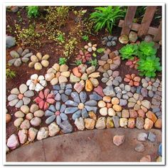 Rock garden ideas for landscaping make you happy 46 – Joce … - Diy Garden Projects Garden Yard Ideas, Garden Crafts, Garden Paths, Garden Projects, Garden Decorations, Diy Garden, Mosaic Garden, Craft Projects, Creative Garden Ideas