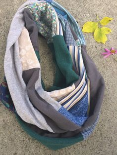 Jersey Infinity SCARF Upcycled
