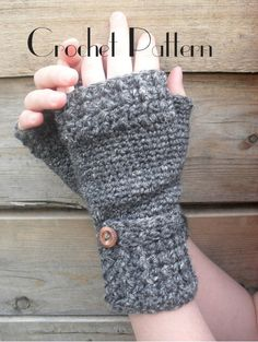Crochet Pattern for Fingerless Mitts
