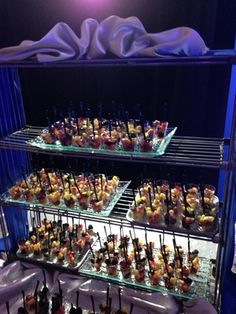 Shooter cups make for the perfect hors d'oeuvres at any event-- The Juniper Spoon #caterer #indiana