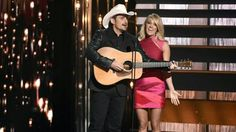 Brad Paisley and Carrie Underwood Carrie Underwood Photos, Cma Awards, Brad Paisley, Miranda Lambert, Blake Shelton, Carry On, Photo Galleries, Kicks, Jokes
