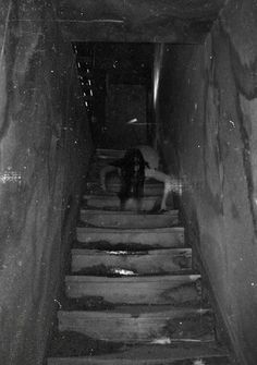 Maybe Ghosts - girl(?) on stairs