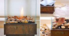 Kreatívny DIY nápad s návodom krok za krokom na moderné štýlové ohnisko zhotovené za lacno a vlastnými rukami - handmade. Do exteriéru či interiéru domu