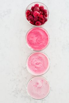 OMBRÉ smoothie fun made with Frozen Red Raspberries! #ad #redrazz | immaEATthat.com
