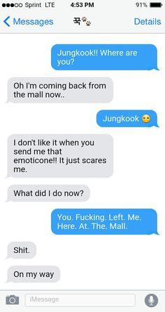Cute Messages, Funny Text Messages, Bts Texts, Funny Texts, Fake Text Message, Bts Snapchats, Text Imagines, Bts Scenarios, Bts Girl