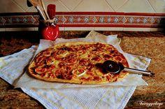 Tuvesyyohago: Pizza de queso de cabra y cebolla caramelizada